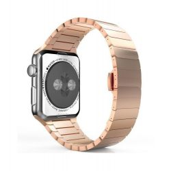Hoco - Grand series 1 soros fém rozsdamentes acél óraszíj Apple Watch 42 mm - rozé arany