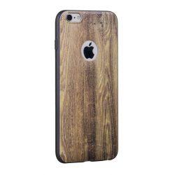 Hoco - Element series nyers fa mintás iPhone 6/6s tok - barna