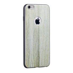 Hoco - Element series fehér tölgyfa mintás iPhone 6/6s tok - barna