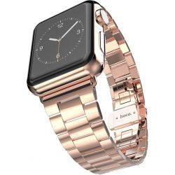Hoco - Grand series 3 soros vékonyított fém rozsdamentes acél óraszíj Apple Watch 42 mm - rozé arany