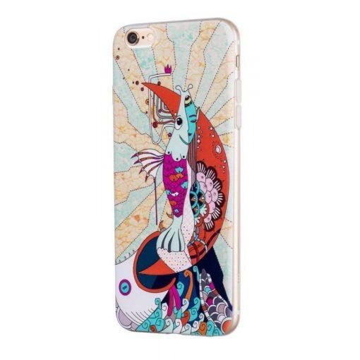Hoco - Element series mitológiai - sellő mintás iPhone 6/6s tok - fehér