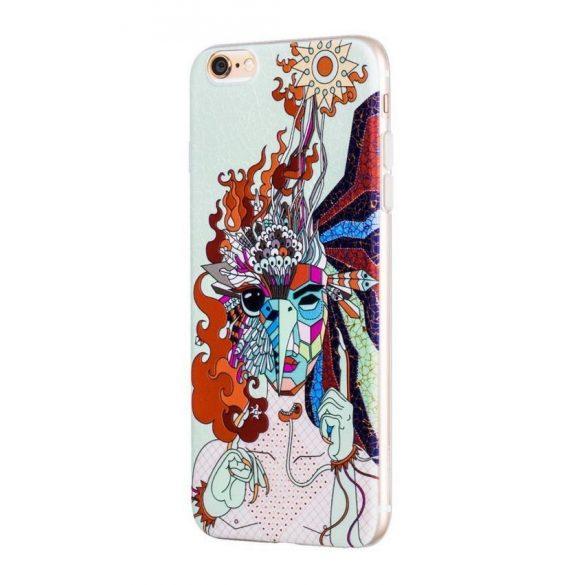 Hoco - Element series mitológiai - tűzmadár mintás iPhone 6/6s tok - fehér