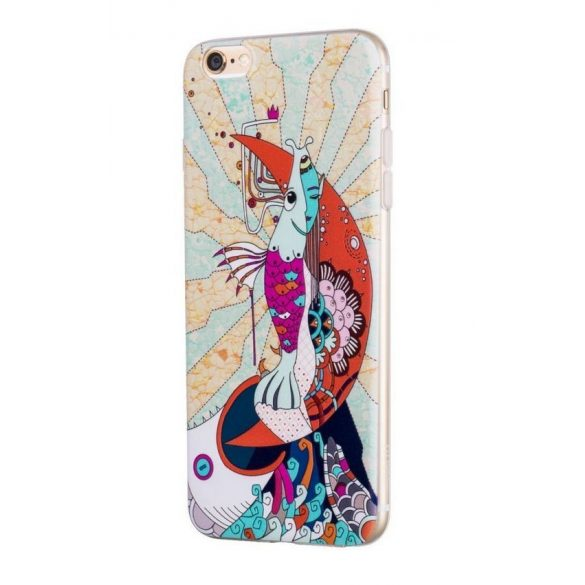 Hoco - Element series mitológiai - sellő mintás iPhone 6plus/6splus tok - fehér