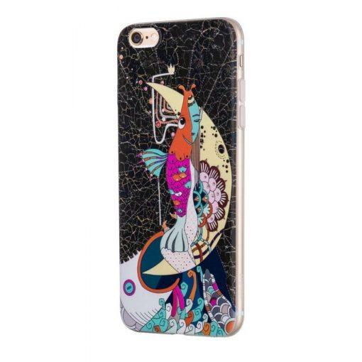 Hoco - Element series mitológiai - sellő mintás iPhone 6plus/6splus tok - fekete