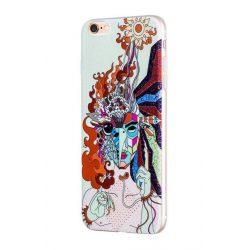 Hoco - Element series mitológiai - tűzmadár mintás iPhone 6plus/6splus tok - fehér