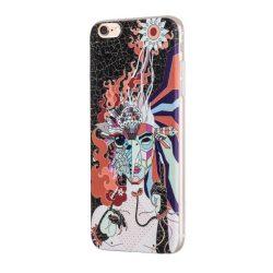 Hoco - Element series mitológiai - tűzmadár mintás iPhone 6plus/6splus tok - fekete