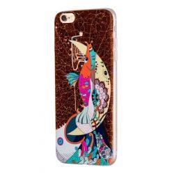 Hoco - Element series mitológiai - sellő mintás iPhone 6plus/6splus tok - barna