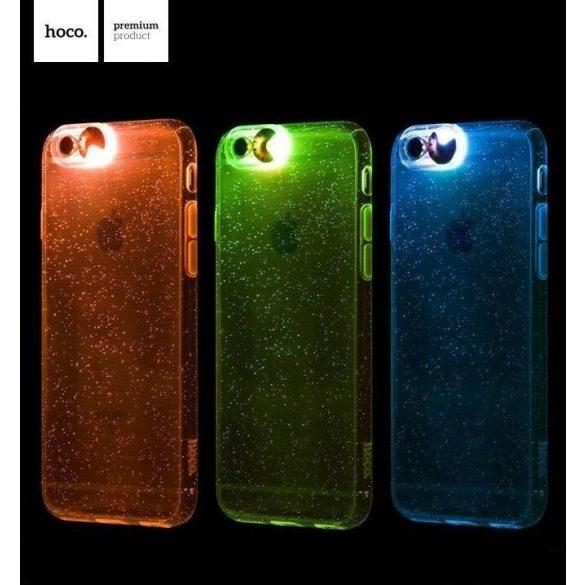Hoco - Flashing series színes tokbevilágító vakutakarós iPhone 6/6s tok - rozéarany