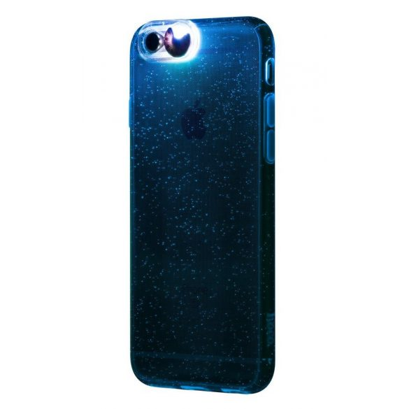 Hoco - Flashing series színes tokbevilágító vakutakarós iPhone 6plus/6splus tok - ezüst