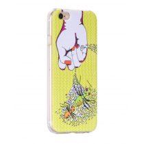 Hoco - Super star series hangya mintás iPhone 6/6s tok - sárga