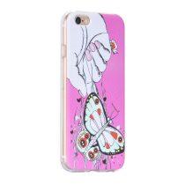 Hoco - Super star series pillangó mintás iPhone 6/6s tok - pink