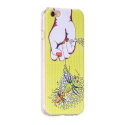 Hoco - Super star series pillangó mintás iPhone 6plus/6splus tok - pink