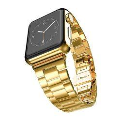 Hoco - Grand series 3 soros vékonyított fém rozsdamentes acél óraszíj Apple Watch 38/40 mm - arany