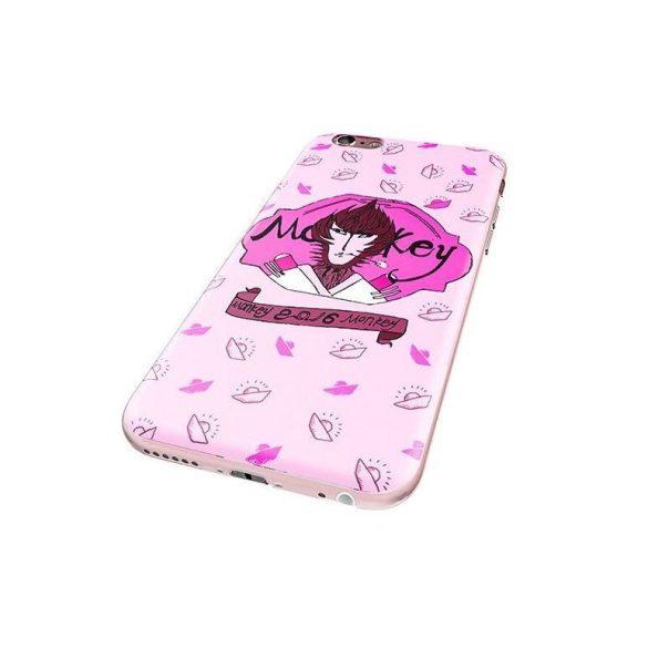 Hoco - Element series Majom éve - boldogság mintás iPhone 6/6s tok - rózsaszín
