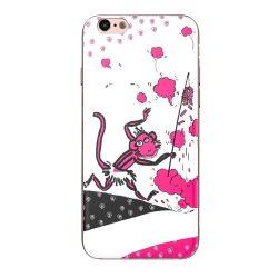 Hoco - Element series Majom éve - lendület mintás iPhone 6/6s tok - rózsaszín - fehér