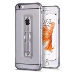 Hoco - Finger holder series biztonsági ujj akasztós iPhone 6/6s tok - fekete