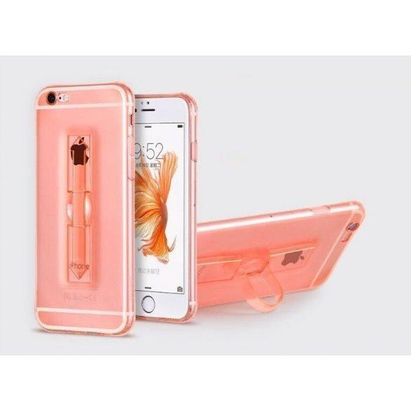 Hoco - Finger holder series biztonsági ujj akasztós iPhone 6/6s tok - rozéarany