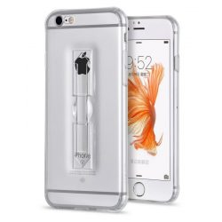 Hoco - Finger holder series biztonsági ujj akasztós iPhone 6plus/6splus tok - átlátszó