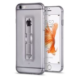 Hoco - Finger holder series biztonsági ujj akasztós iPhone 6plus/6splus tok - fekete