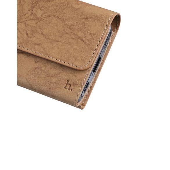 Hoco - P4 pénztárca megjelenésű power bank 4800 mAh  - barna