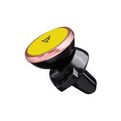 Hoco - CA3 mágneses szellőzőrácsra tehető telefontartó - sárga