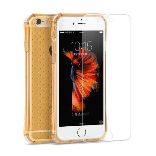Hoco - Armor series ütésálló iPhone 6/6s tok - arany + fólia egy csomagban