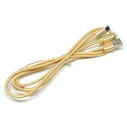Hoco - X2 2in1 Apple lightning és Micro USB töltő kábel - arany