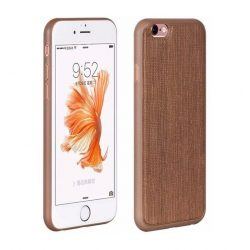 Hoco - Ultra thin series ultra vékony bőr mintás iPhone 6/6s tok - barna