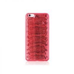 Hoco - Ultra thin series ultra vékony kígyó bőr mintás iPhone 6/6s tok - piros