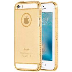 Hoco - Ice Crystal series kristály berakásos luxus iPhone 5/5s/se tok - arany