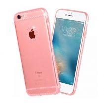 Hoco - Ice Crystal series kristály berakásos luxus iPhone 6/6s tok - rozéarany