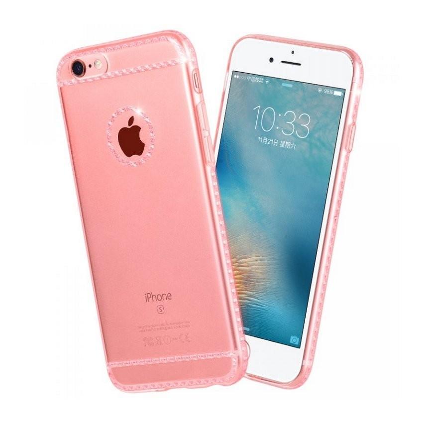 c28452f17c Hoco - Ice Crystal series kristály berakásos luxus iPhone 6/6s tok -  rozéarany