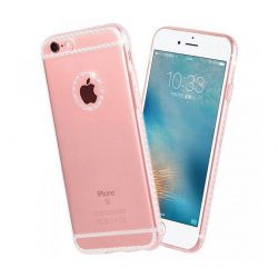 Hoco - Ice Crystal series kristály berakásos luxus iPhone 6plus/6splus tok - átlátszó