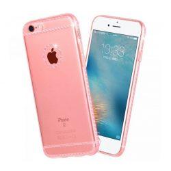 Hoco - Ice Crystal series kristály berakásos luxus iPhone 6plus/6splus tok - rozéarany