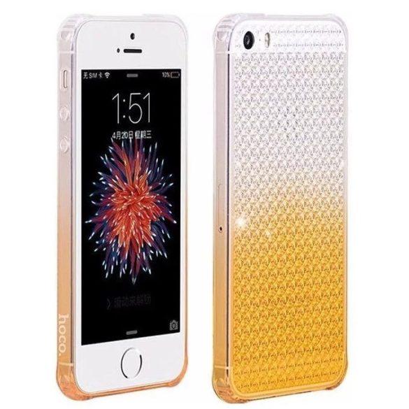 Hoco - Diamond series színátmenetes gyémánt mintás iPhone 5/5s/se tok - sárga