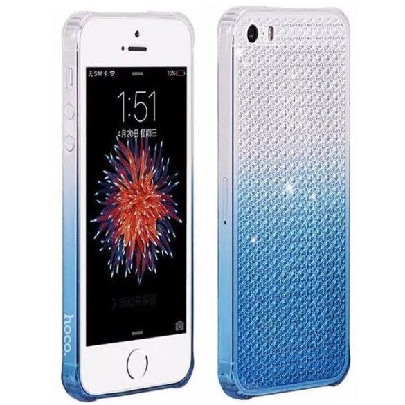 Hoco - Diamond series színátmenetes gyémánt mintás iPhone 5/5s/se tok - kék
