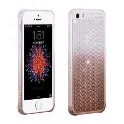 Hoco - Diamond series színátmenetes gyémánt mintás iPhone 5/5s/se tok - barna