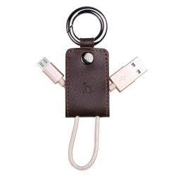 Hoco - UPM19 kulcstartó formájú micro USB adat/töltő kábel 15 cm - arany