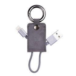 Hoco - UPM19 kulcstartó formájú micro USB adat/töltő kábel 15 cm - szürke