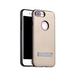 Hoco - Simple series Pago bőr boritású iPhone 7 Plus/iPhone 8 Plus védőtok mágneses kitámasztóval - arany