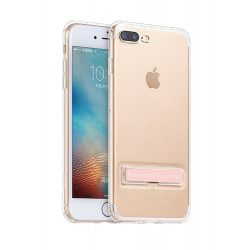 Hoco - Magnetic series erősített szilikon iPhone 7 Plus/iPhone 8 Plus védőtok mágneses kitámasztóval - rozéarany