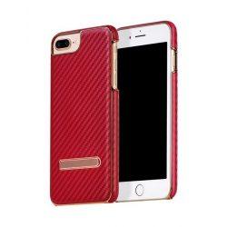 Hoco - Platinum series karbon szövet mintás iPhone 7 Plus / iPhone 8 Plus védőtok - piros