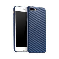 Hoco - Ultra thin series karbon szövet mintás ultra vékony iPhone 7 Plus/iPhone 8 Plus védőtok - zafírkék