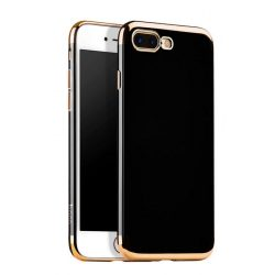 Hoco - Obsidian series fényes felületű iPhone 7 Plus/iPhone 8 Plus védőtok fémes széllel - arany
