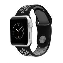 Hoco - Silicon series lélegző sport szíj apple watch 38mm - fekete/szürke