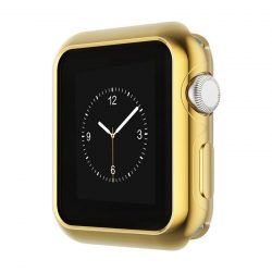 Hoco - okos óra ultravékony TPU fémes szélű védőtok Apple Watch Series 2/Series 3 38 mm - arany