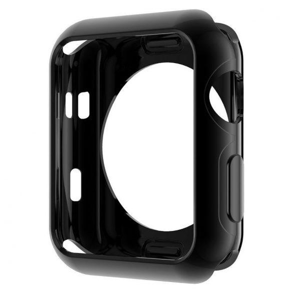 Hoco - okos óra galvanizált TPU védőtok Apple Watch Series 2/Series 3 42 mm - fekete