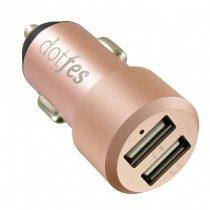 Dotfes B03 rose gold fém szivartöltő fej 2USB max 4.8A