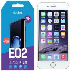 """Dotfes E02 iPhone 6 6G 6S Plus (5,5"""") prémium kékfény-szűrős előlapi üvegfólia"""