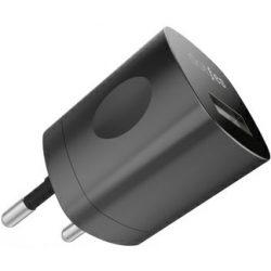 Dotfes C04 fekete prémium EU/US hálózati töltőfej 1.0A micro USB kábellel